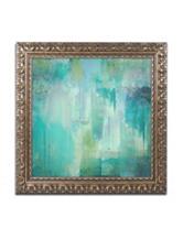 Trademark Fine Art Aqua Circumstance Gold Ornate Framed Art