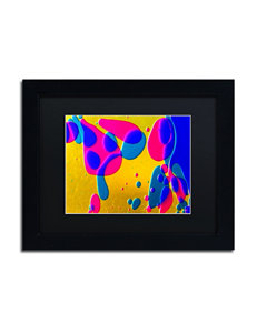 Trademark Fine Art Colour Fun I Black Matted Framed Art