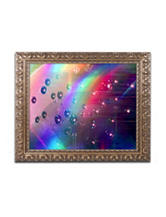 Trademark Fine Art Rainbow Logistics II Ornate Framed Art