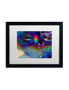 Trademark Fine Art Rainbow Logistics VI Matted Black Framed Art