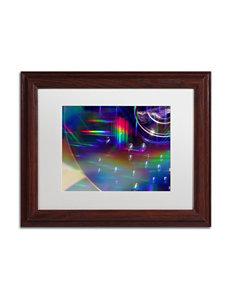 Trademark Fine Art Rainbow Logistics VI Matted Brown Framed Art