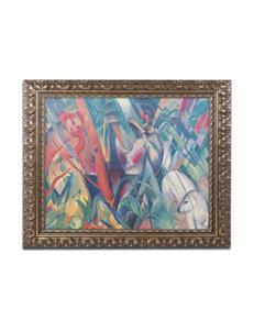Trademark Fine Art In the Rain 1912 Ornate Framed Art