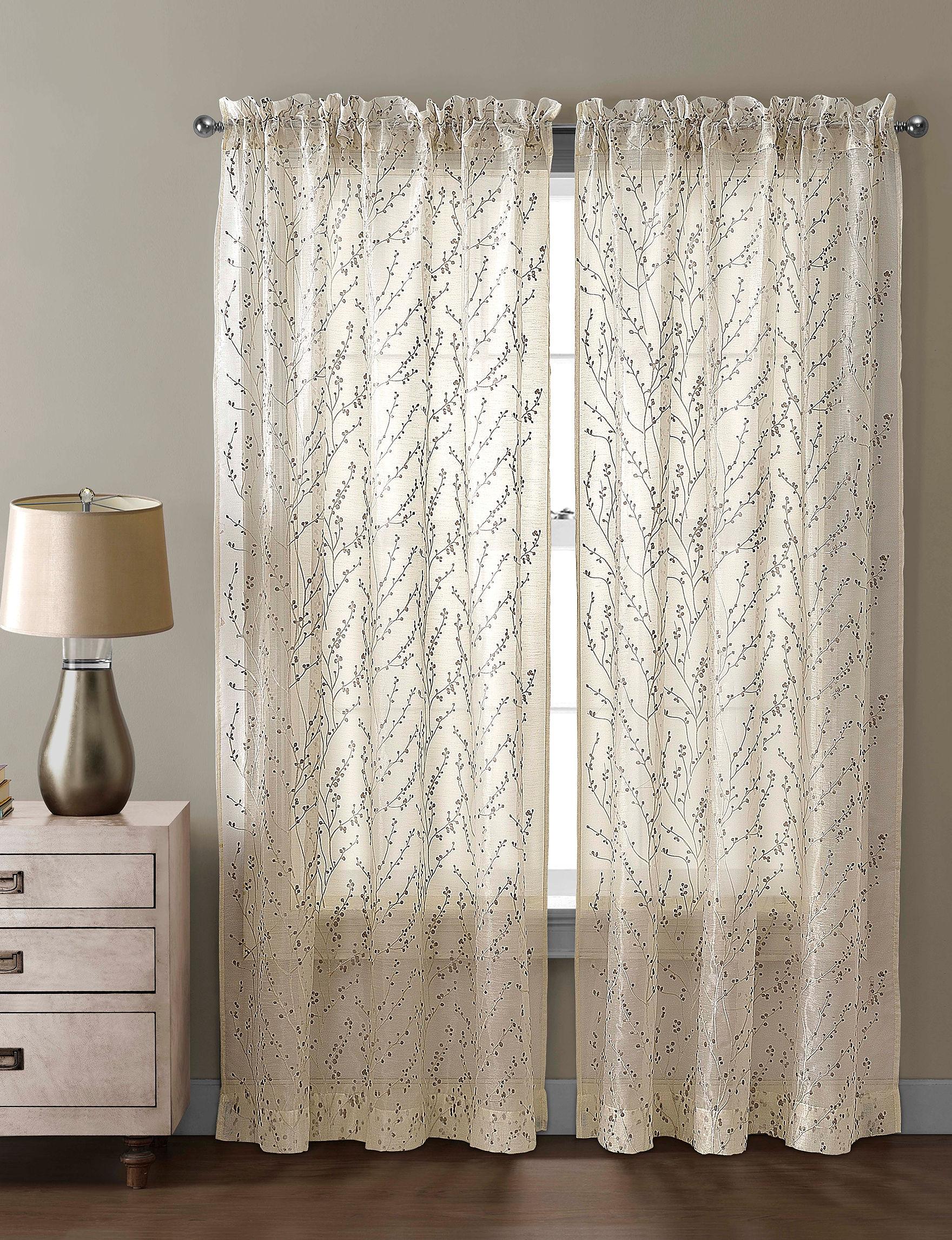 Victoria Classics Beige Curtains & Drapes Window Treatments