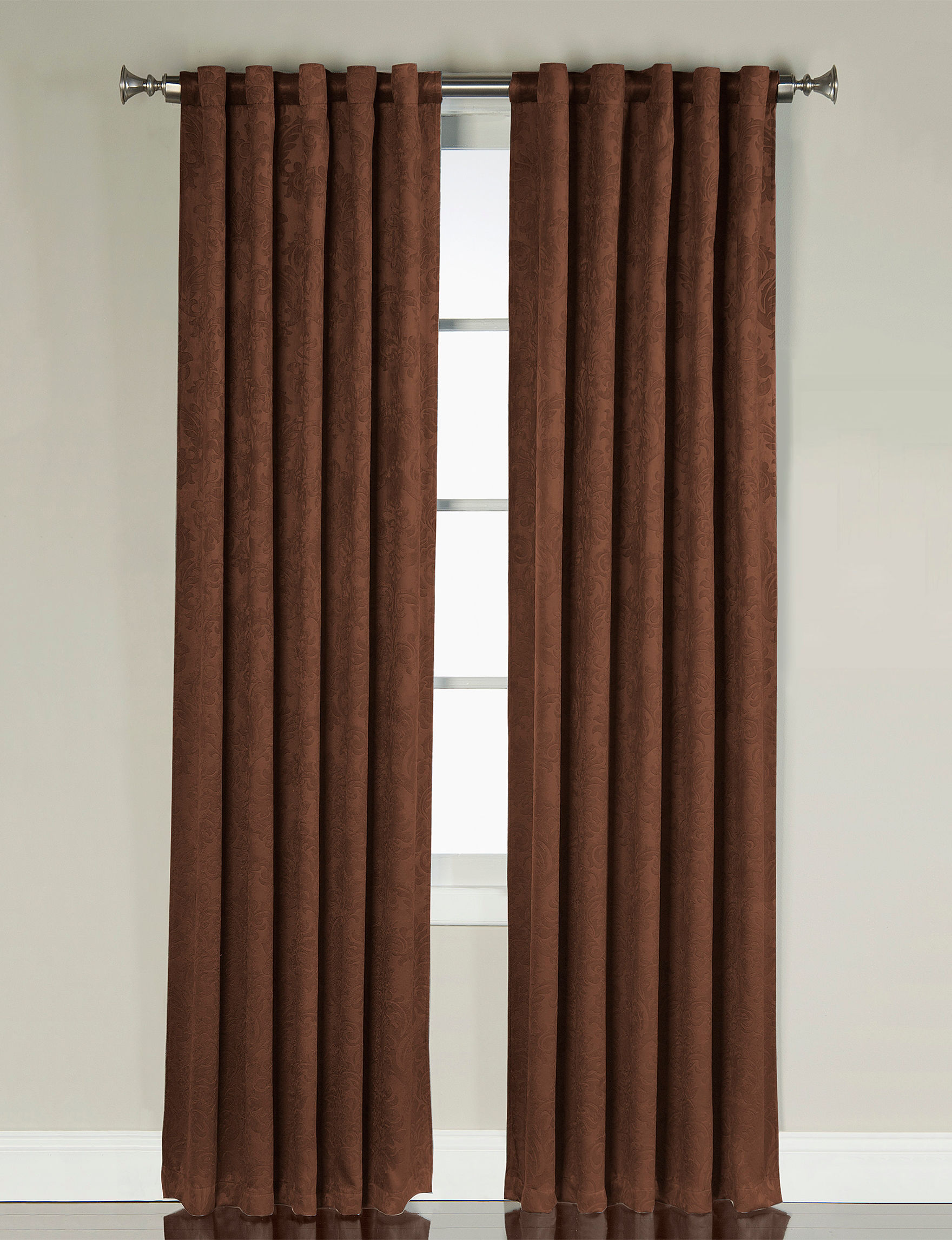 Victoria Classics Chocolate Curtains & Drapes Window Treatments