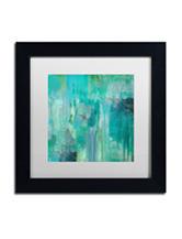 Trademark Fine Art Aqua Circumstance II Matted Black Framed Art