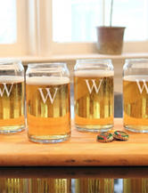 Cathy's Concepts 4-pc. Personalized Craft Ale Can Glass Set