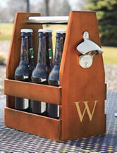 Cathy's Concepts Personalized Wooden Craft Ale Carrier Set