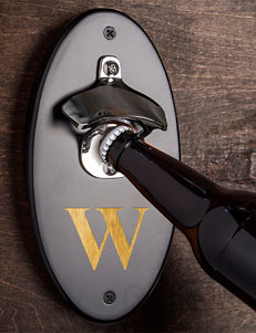 Cathy's Concepts Personalized Black Wall Mounted Bottle Opener