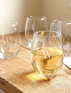 Cathy's Concepts 4-pc. Personalized Stemless Wine Glass Set