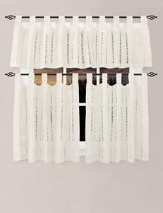 Park B. Smith 2-pc. Eyelet Ivory Cafe Curtains