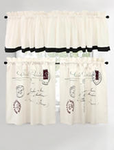 Vintage House by Park B. Smith 2-pc. Postale Natural & Black Cafe Curtains