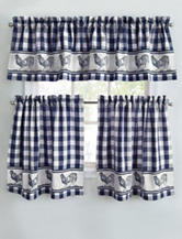 Park B. Smith 2-pc. Provencial Rooster Navy Cafe Curtains