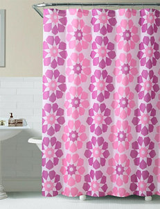 Victoria Classics Pink Shower Curtains & Hooks