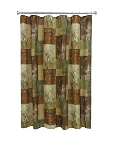Bacova Guild Gold Shower Curtains & Hooks