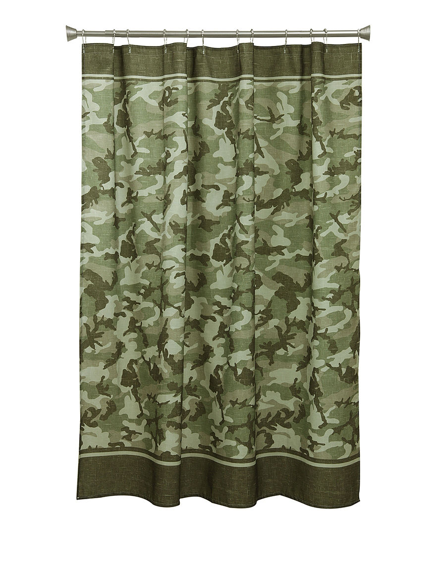 Bacova Guild Forest Camo Shower Curtain Stage Stores