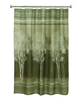 Bacova Guild Forest Silhouette Shower Curtain