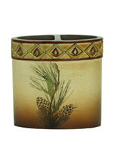 Bacova Guild Pine Cone Silhouettes Toothbrush Holder