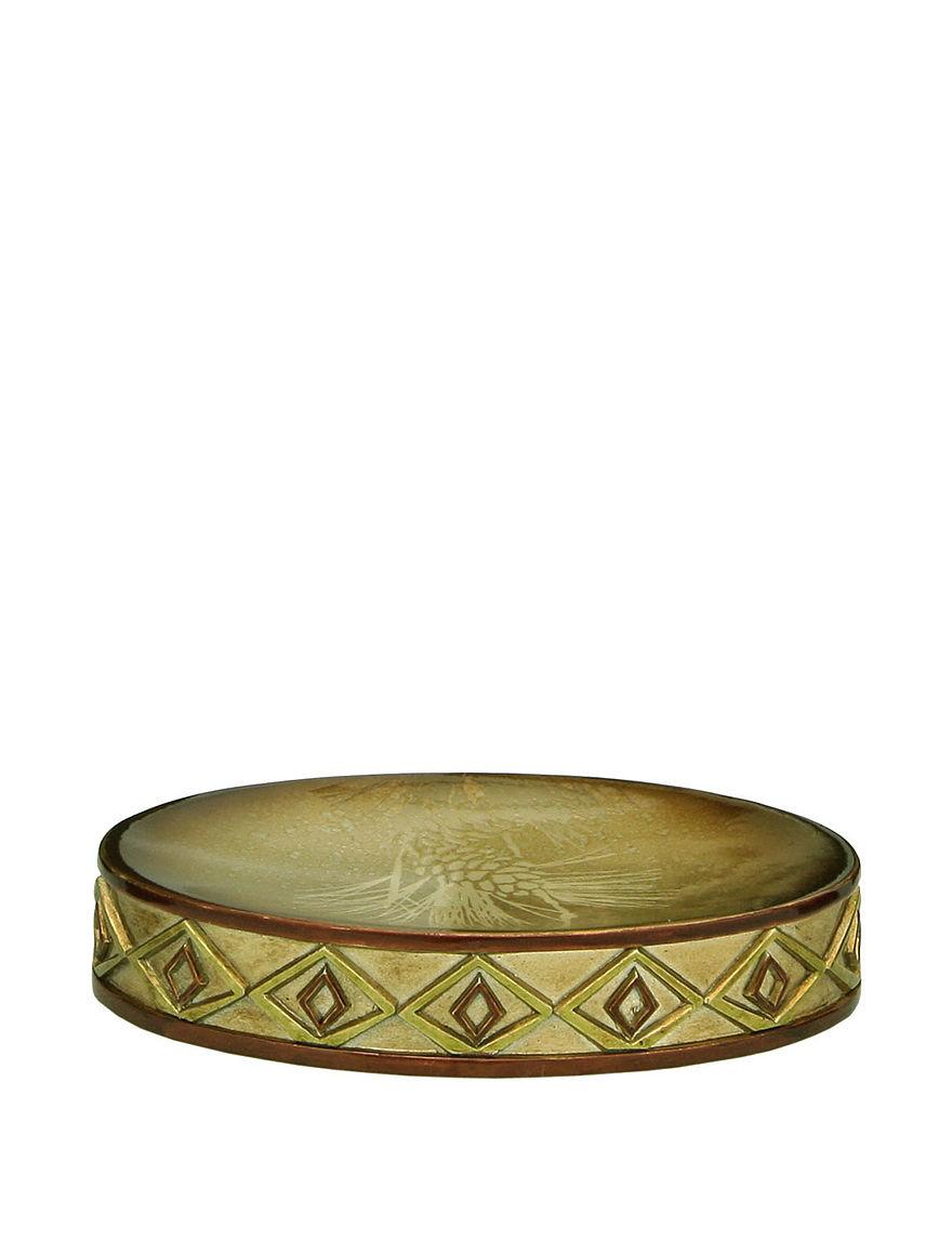 Bacova Guild Gold Soap Dishes Bath Accessories