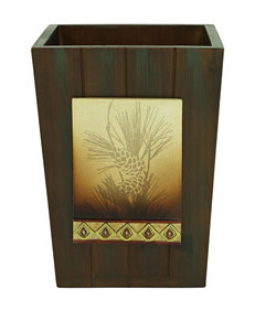 Bacova Guild Pine Cone Silhouettes Wastebasket
