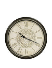 Decor Therapy Distressed Baroque Wall Clock
