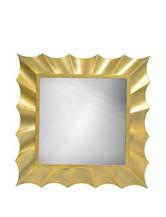 Decor Therapy  Square Gold Wave Mirror