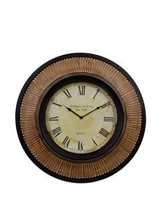 Decor Therapy Walnut Desk Clocks Wall Decor