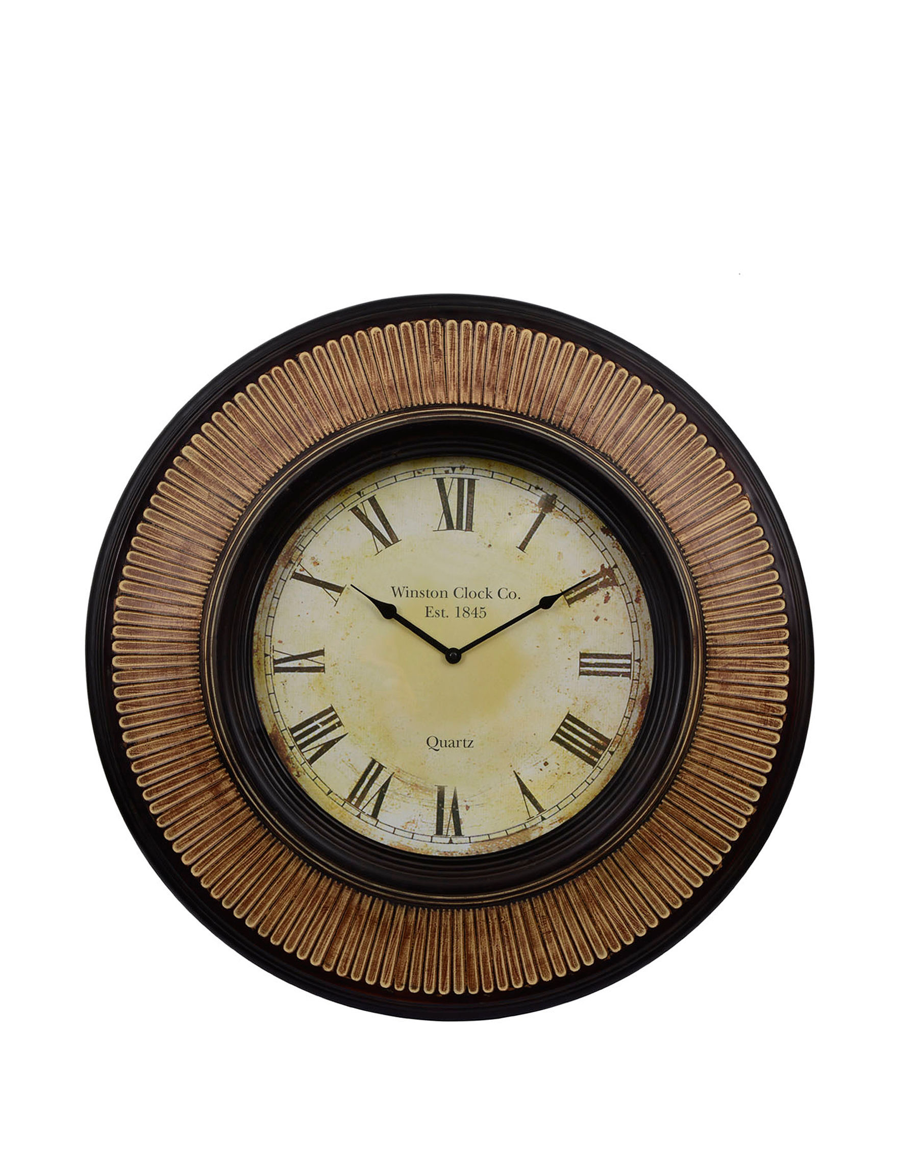 Decor Therapy Walnut Desk Clocks Wall Clocks Wall Decor