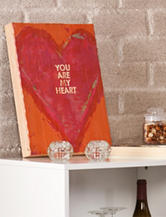 Holly & Martin You Are My Heart Swoon Wall Panel