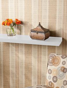 Southern Enterprises White Accent Shelves & Wall Hooks Wall Decor