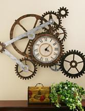 Southern Enterprises Clock Gear Wall Art