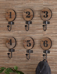 Southern Enterprises 6-pc. Decorative Numbered Hook Set