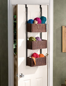Southern Enterprises Over The Door 3-Tier Basket Storage
