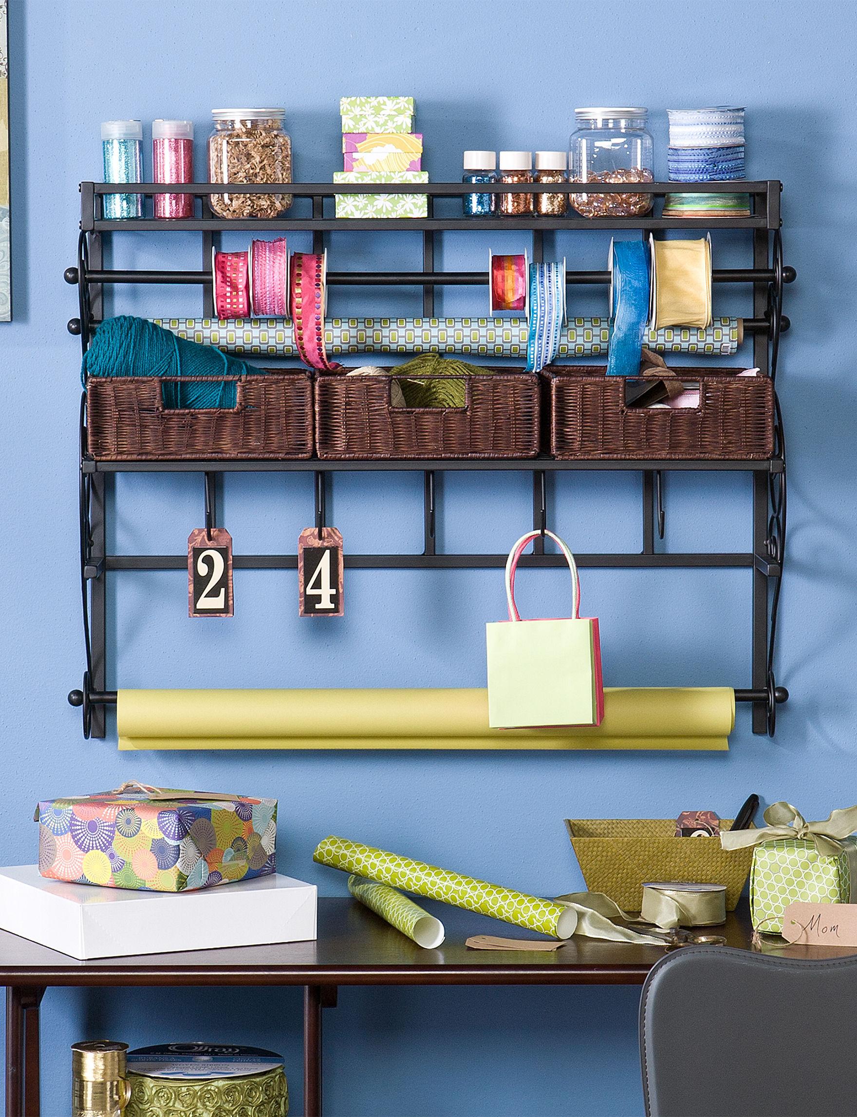 Southern Enterprises Expresso Accent Shelves & Wall Hooks Storage Shelves Storage & Organization Wall Decor