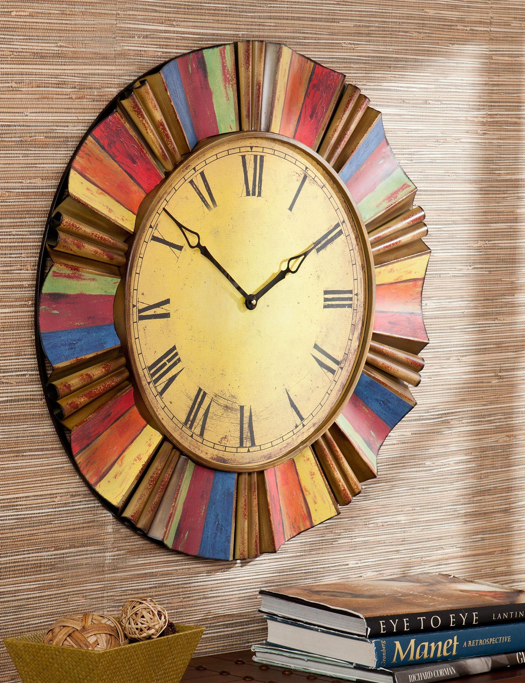 Southern Enterprises Red Desk Clocks Wall Clocks Wall Decor