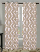 Beatrice Home Fashions 2-pc. Taupe Geo Print Curtains
