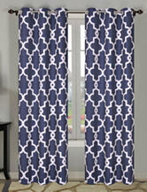 Beatrice Home Fashions 2-pc. Navy Geo Print Curtains