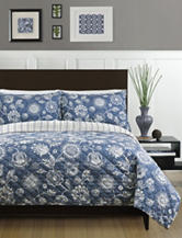 Great Hotels Collection Chambray Sunflower Quilt Set