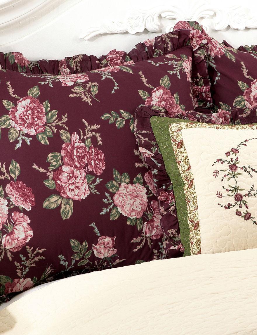 Modern Heirloom Purple Pillow Shams