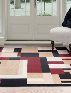 Lavish Home Red / Black Area Rugs Rugs