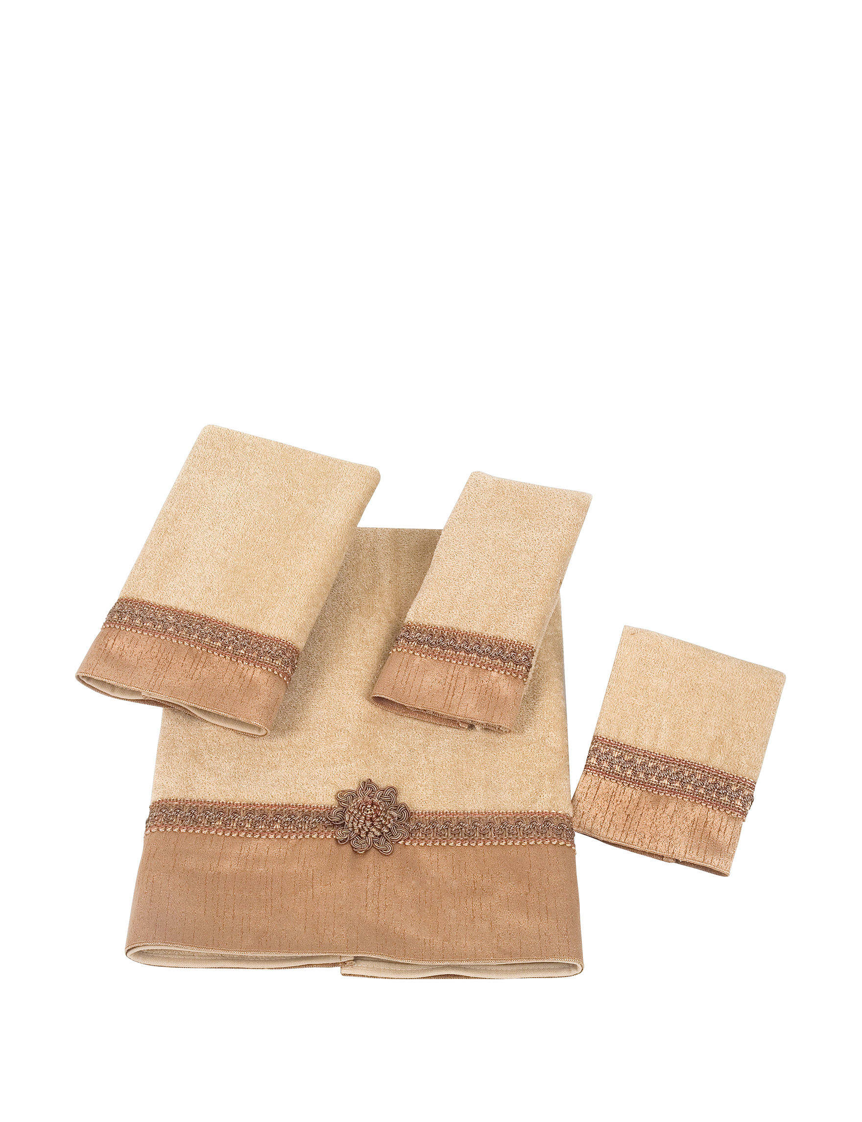 Avanti Beige Bath Towels Hand Towels Washcloths