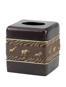 Avanti Brown Tissue Box Covers Bath Accessories