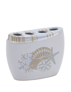 Avanti White Toothbrush Holders Bath Accessories