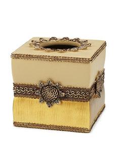 Avanti Beige Tissue Box Covers Bath Accessories