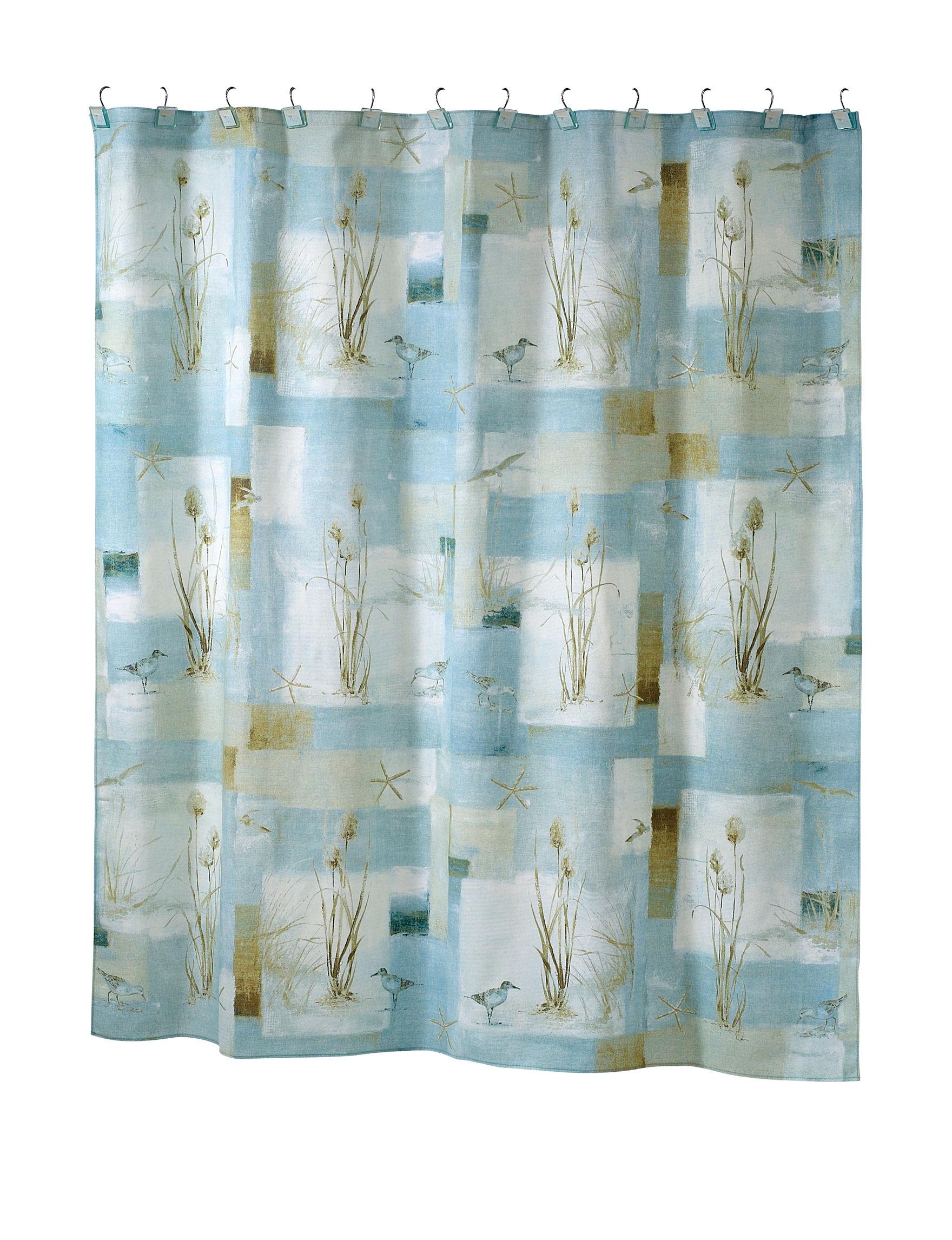 Avanti Blue Shower Curtains & Hooks