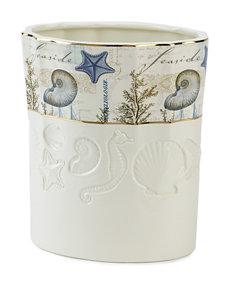 Avanti Ivory Wastebaskets Bath Accessories