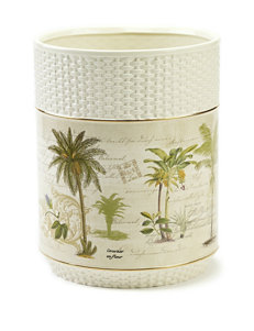 Avanti Colonial Palm Collection Wastebasket