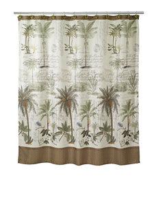 Avanti Ivory Shower Curtains & Hooks