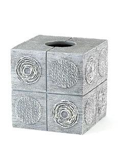 Avanti Silver Tissue Box Covers Bath Accessories