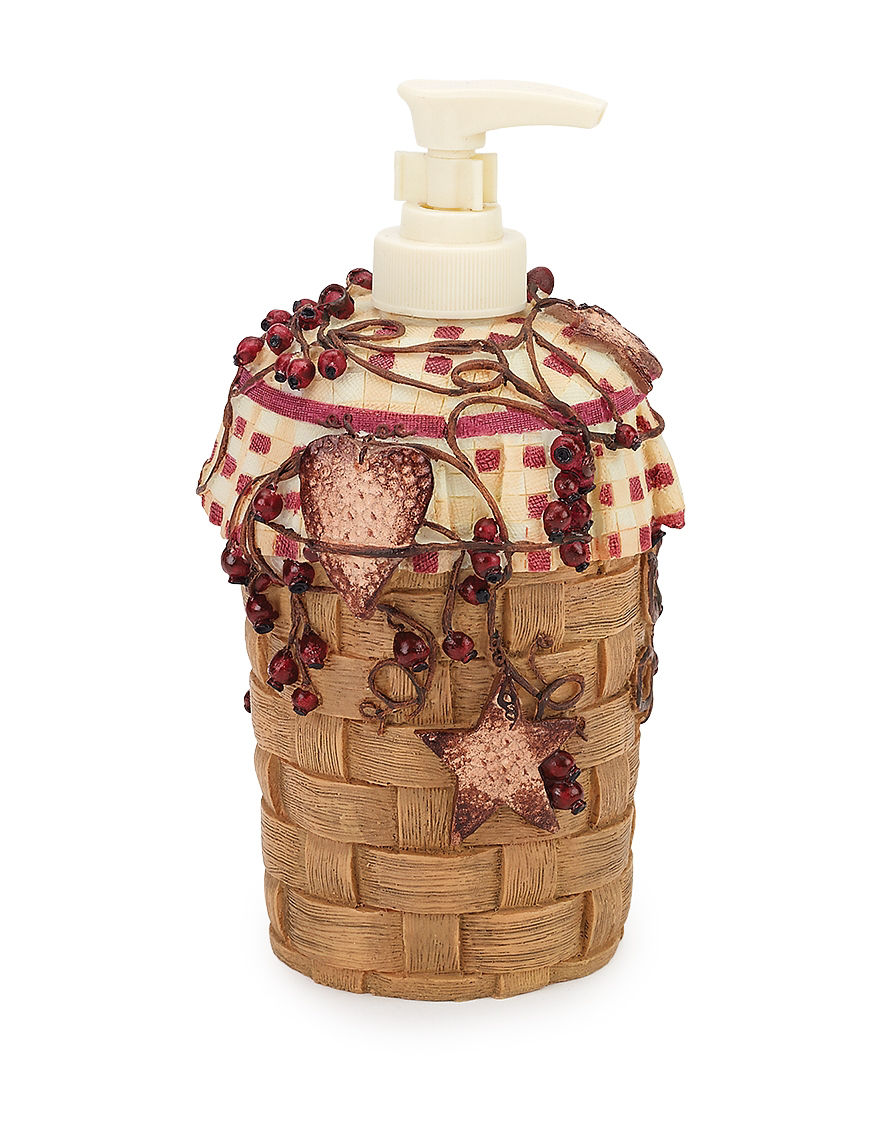 Avanti Burnt Red/ Tan Soap & Lotion Dispensers Bath Accessories