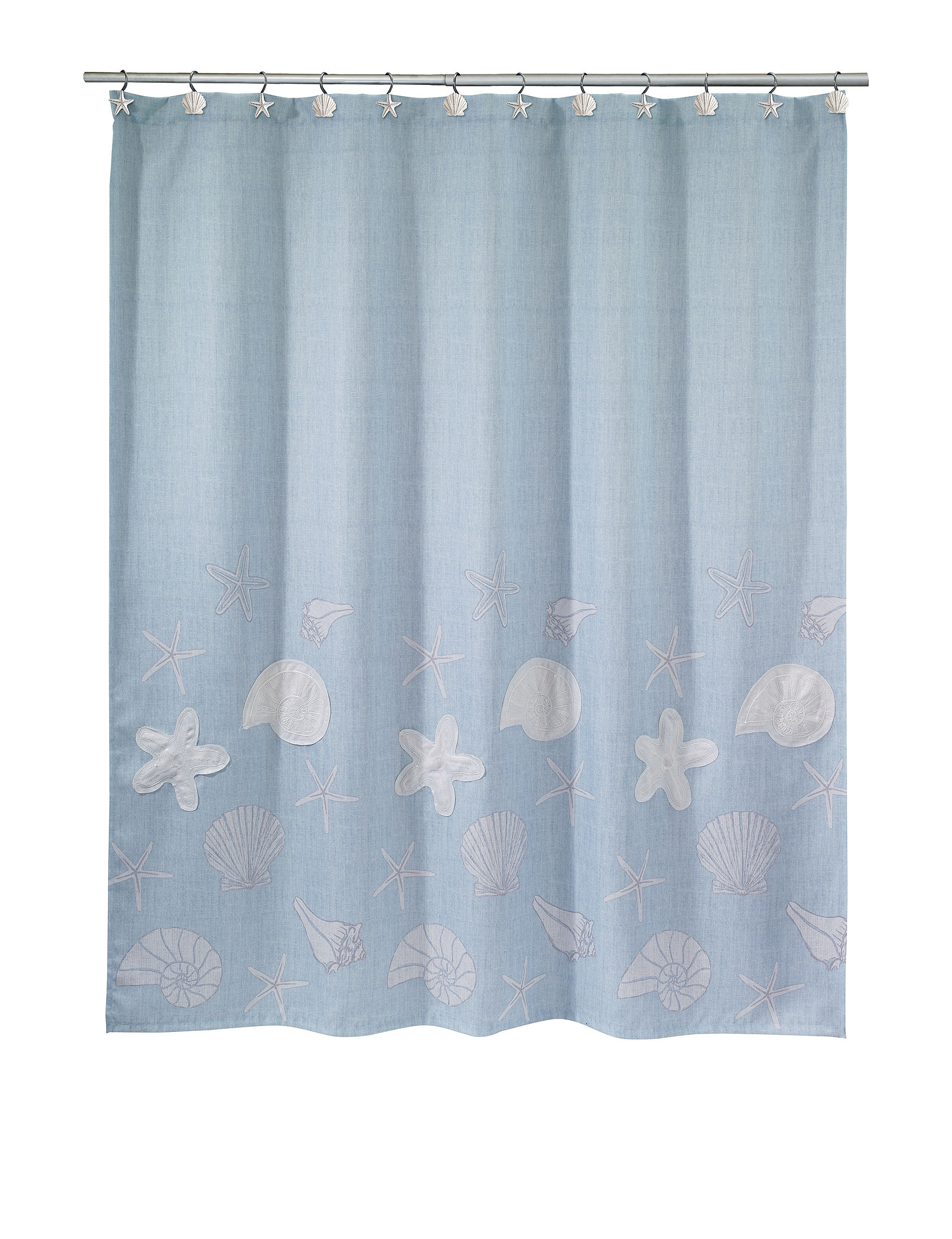 Avanti Sequin Shells Bath Collection Shower Curtain Stage Stores